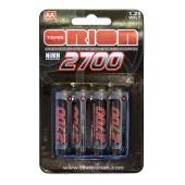 Orion Set Batterie Stilo Ricaricabili 2700mah AA (4)