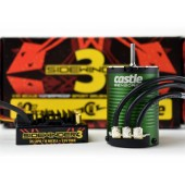 Castle Sidewinder 3 Esc + Motore 1406-4600kv Sensored Waterproof 1:10 3S 12V COMBO