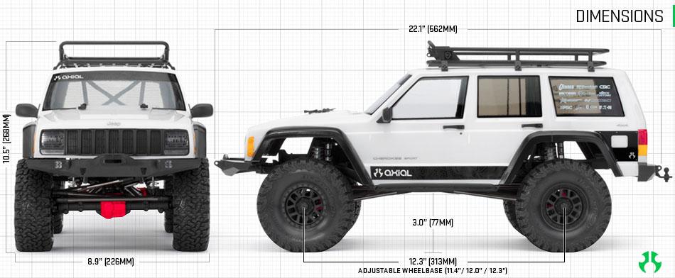 Axial Scx 10 II kit Jeep Cherokee 4wd 08