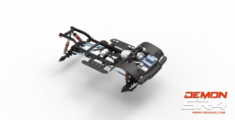 Cross rc Demon SR4A kit scaler pickup rc 4x4 05
