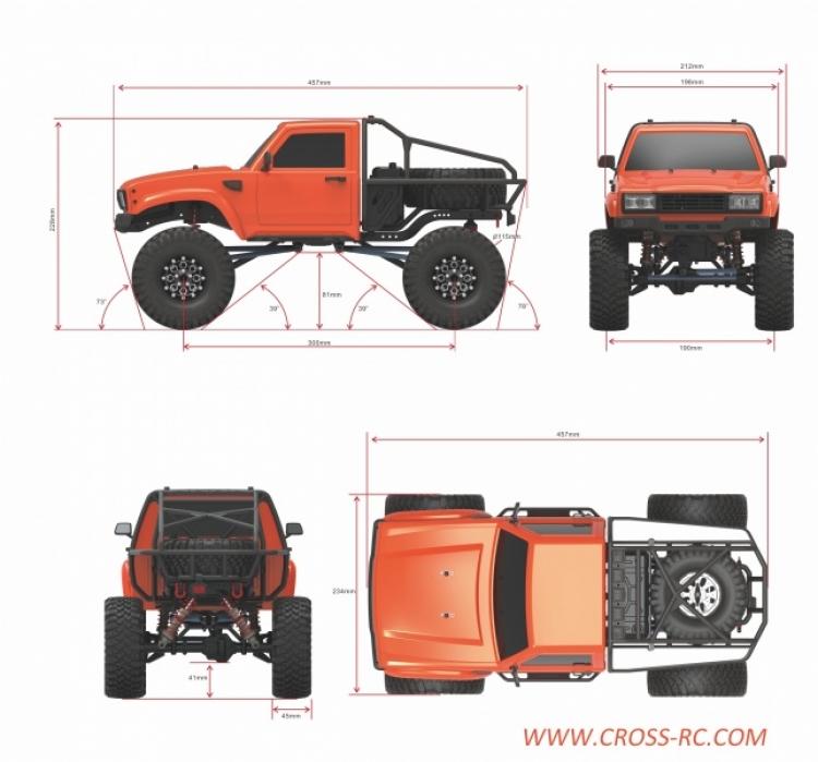 Cross rc Demon SR4A kit scaler pickup rc 4x4 09