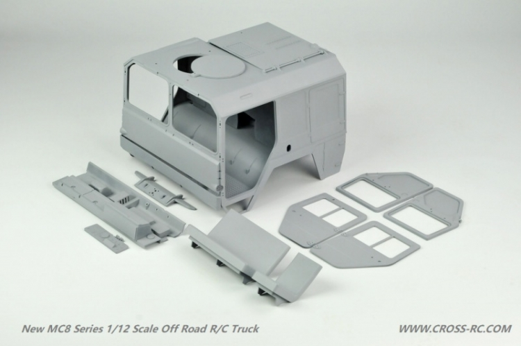 Cross RC Camion Trial 8x8 in Metallo MC8 Kit 05