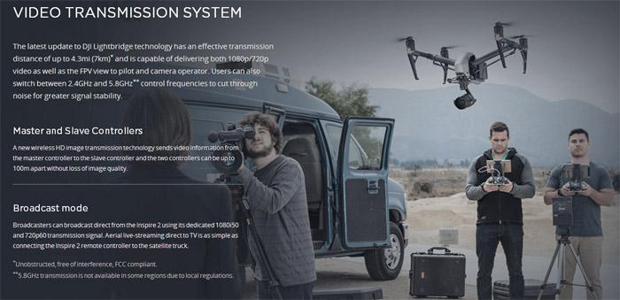 DJI Inspire 2 profesisonal aerial film machine 11