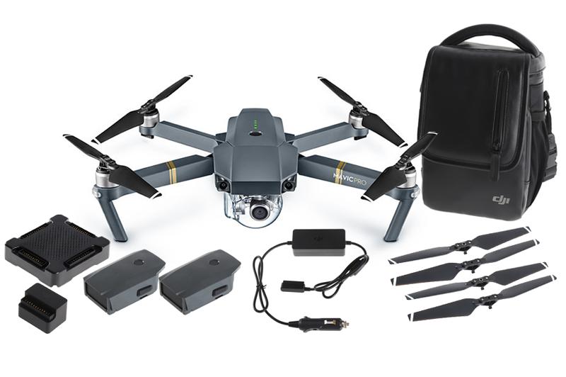 Dji Mavic Pro drone pieghevole sensori combo