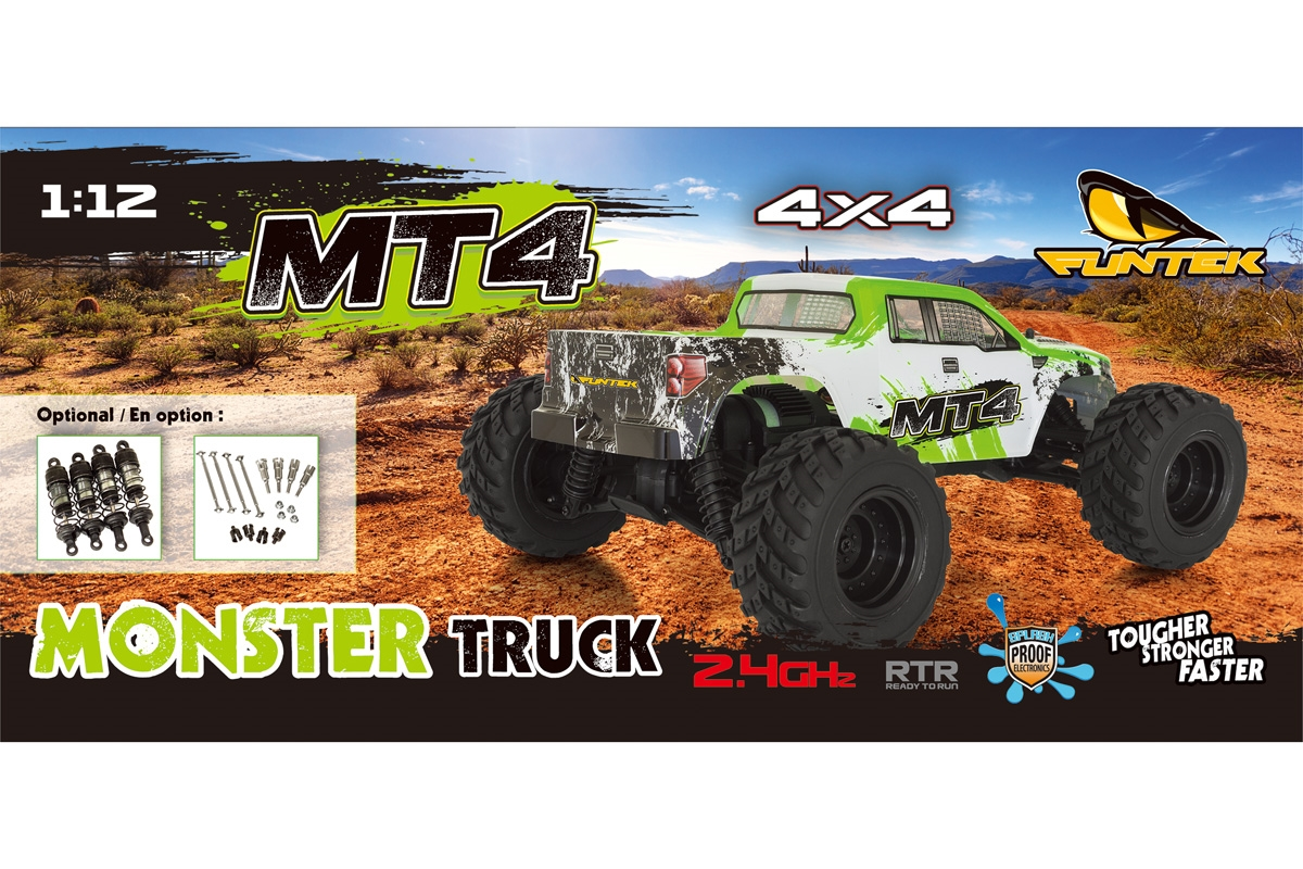 Funtek MT4 Monster Truck 1/10 rc rtr 00