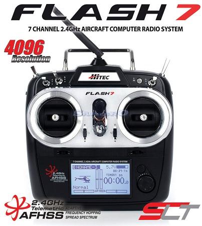 Hitec flash 7 radiocomando a 7 canali mode1