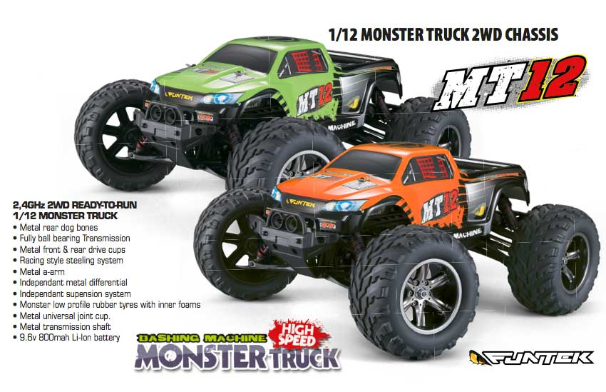 funtech MT12 Monster Truck 1-12 rtr 01
