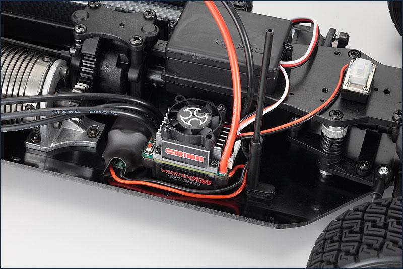 Kyosho Ford Fiesta S2000 DRX VE rtr inside