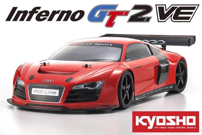 Kyosho Inferno GT2 VE Brushless GT Audi R8 Red 2