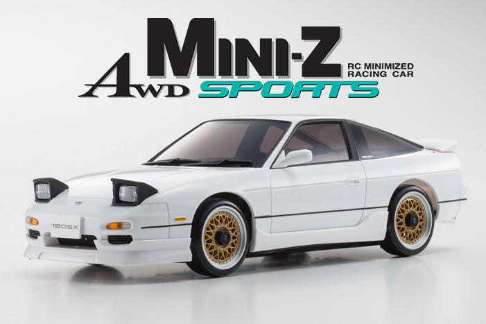 Kyosho Mini-z Awd Nissan 180SX Aero White 01