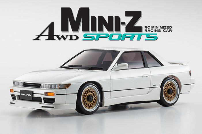Kyosho Mini-z Awd Nissan Silvia Aero White 01