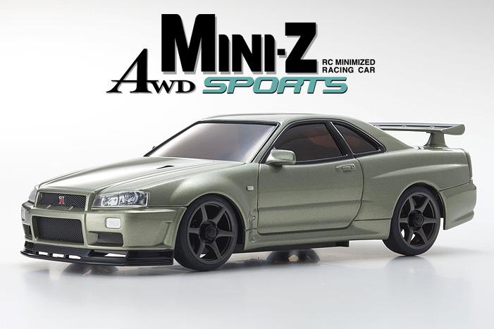Kyosho Mini-z Awd Nissan  Skyline GT-R 01x