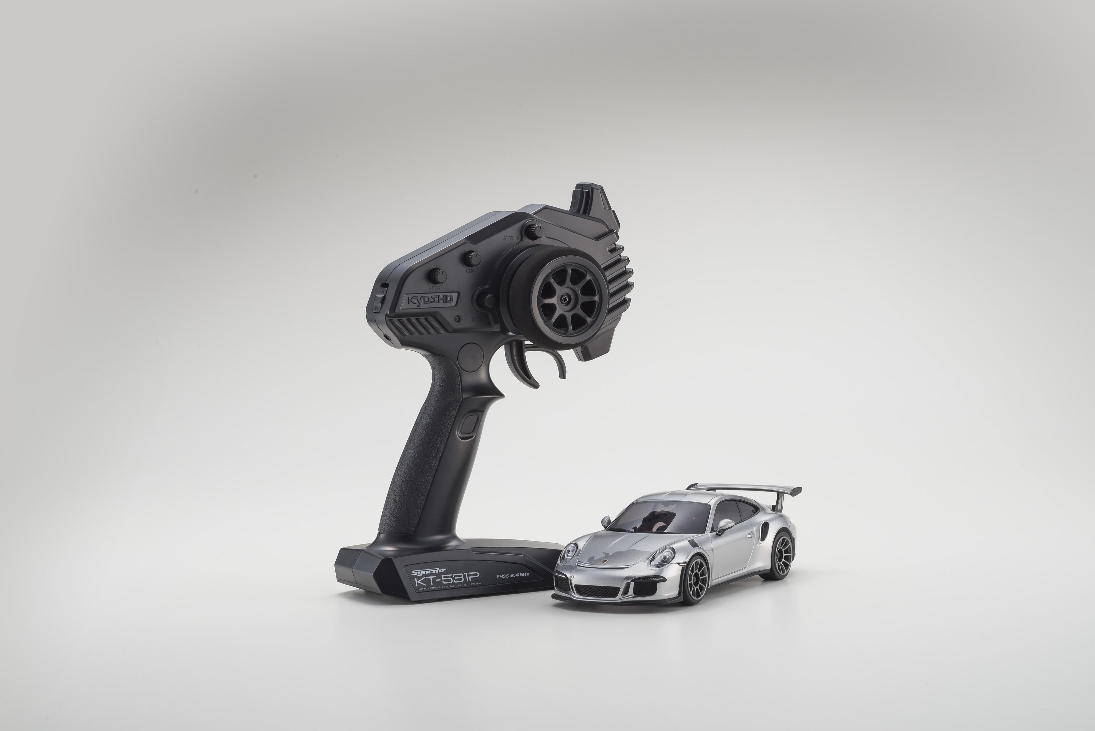 Kyosho Mini-z RWD Porsche 911 GT3 Silver 01