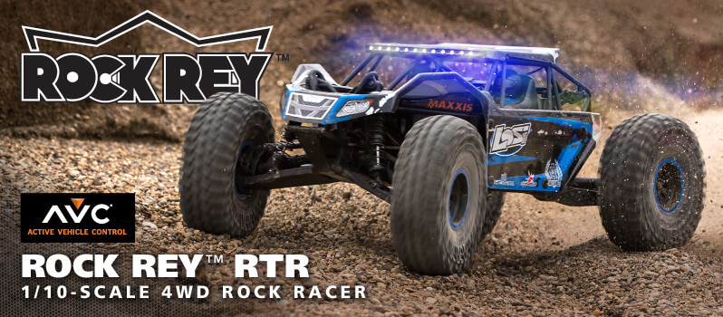 Losi Rock Rey Buggy Rock Racer brushless avc rtr 1