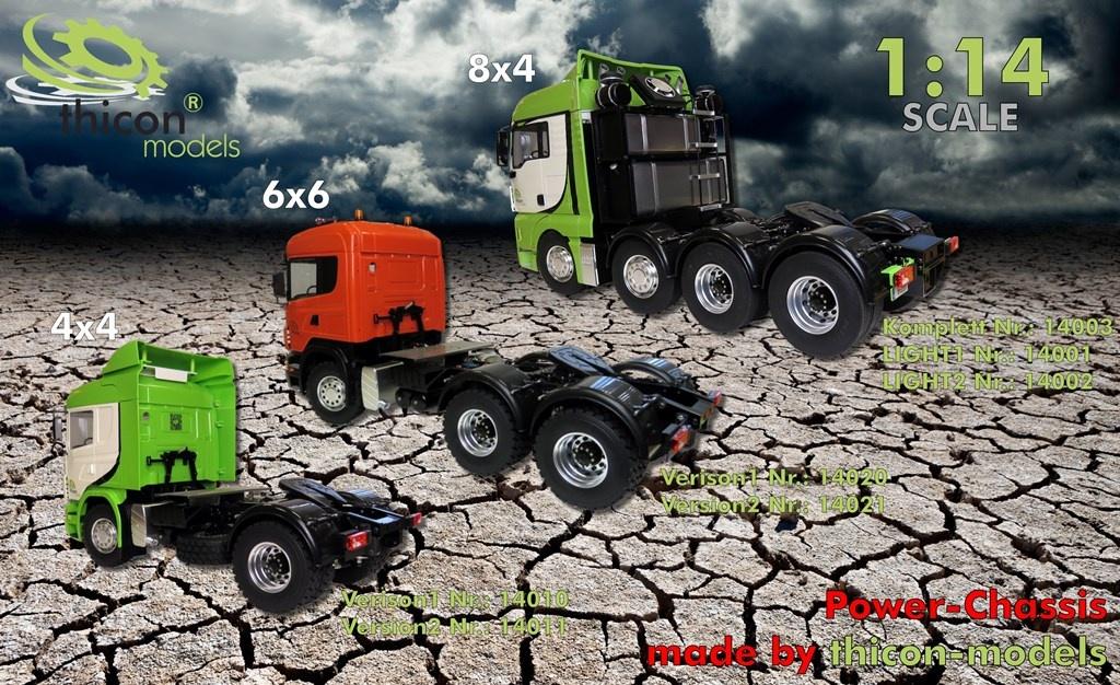 camion 4x4 1 /14 motrice no cab V2 3