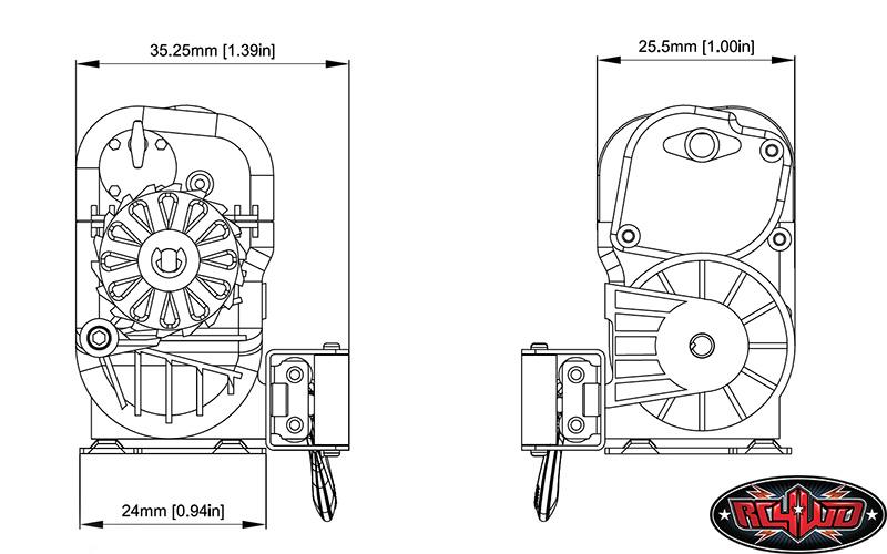 RC4WD 1/10 Warn 8274 Winch 12