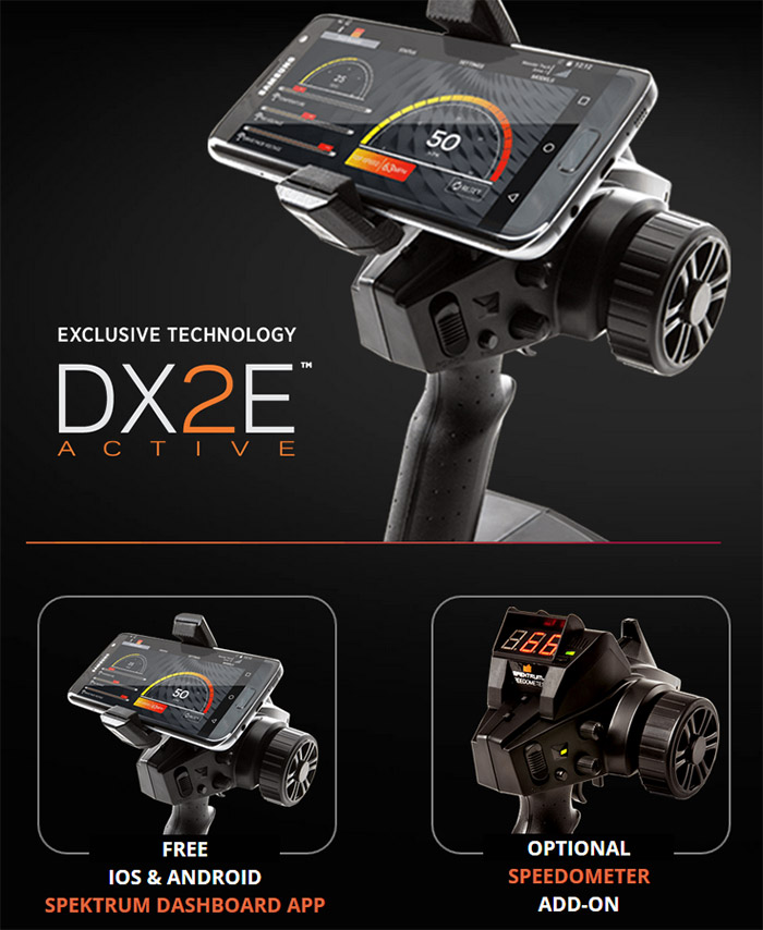 Spektrum DX2e Active 2ch Transmitter with SR310 0x