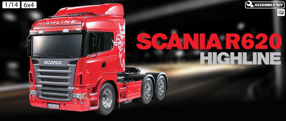 Tamiya Scania R620 Highline rosso kit 2