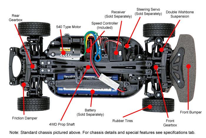 Tamiya Subaru BRZ Drift -kit - chassis
