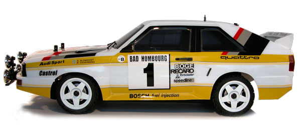 The Rally Legends Audi Quattro 1985 rtr side