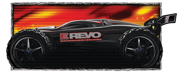 Traxxas E-Revo Brushless Waterproof sideview