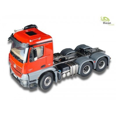 Thicon Kit 6x6 Assembled Tracktor Truck Chassis for Tamiya AROCS