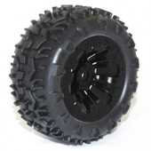 FTX Carnage Mounted  Wheel Tyre Complete Pair Black