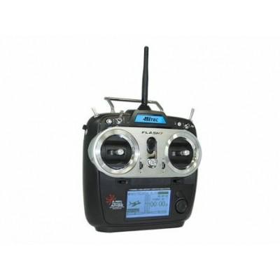 Hitec Flash 7 7ch Radio Transmitter with 2x Optima 7 Rx mode 1
