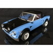 The Rally Legends 124 Abarth Rally 4WD 1 /10 Rc RTR Blue Black