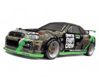 Hpi Racing Micro RS4 DRift Car Fail Crew Nissan Skyline R34 GT-R RTR