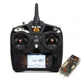 Spektrum NX6 Radiotrasmitter 6 Channel AR6610T Receiver Telemetry