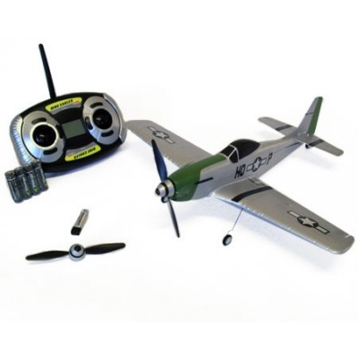 Micro radio controlled Airplane Nine Eagles P51 Mustang Mode 2