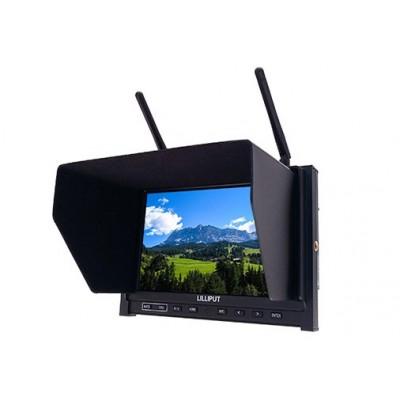 """FPV HD Drone Monitor Liliput 7"""" IPS Dual 5.8 ghz Rx"""