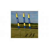6 ft 1,80m FPV Slalom Gate Banner with Stakes Horizon Logo