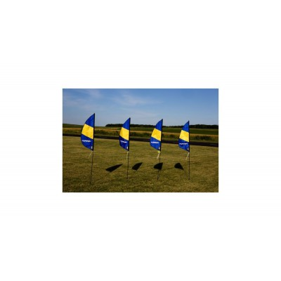 3.5 ft 1m FPV Boundry Marker Flag (4) with Stakes HH Logo