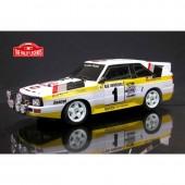 The Rally Legends AUDI QUATTRO 1985 RC ARTR 4wd Transparent