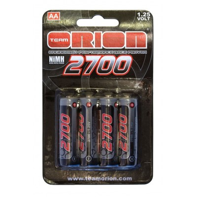 Oion set 4 AA Batteries Rechargeables 2700mah