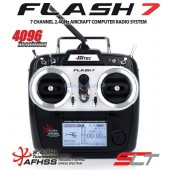Hitec Flash 7 7ch Radio Transmitter with 2x Optima 7 Rx mode 2