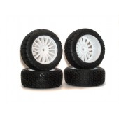 Kyosho 1:9 DRX VE Complete Rally Wheels Set 4pc with Rims