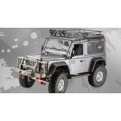TFL Scale Carbon Chassis Kit 1/10 with Fiberglass Defender D90 Body Metal Transmission