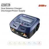 Caricabatterie Bilanciato SkyRc D100 V2 Dual Balance 100w x2 10A AC/ DC