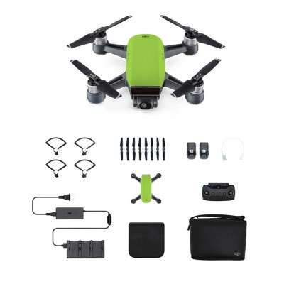Dji Spark Mini Drone Combo Radio Meadow Green Fpv
