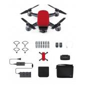 Dji Spark Mini Drone Combo Radio Lava Red Fpv
