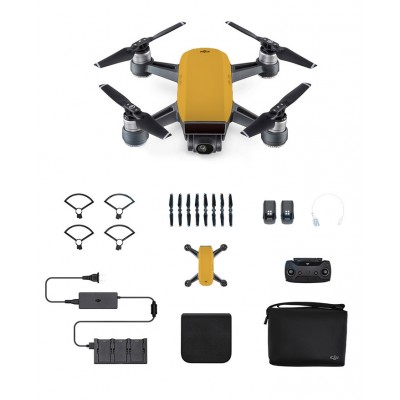 Dji Spark Mini Drone Combo Radio Sunset Yellow Fpv