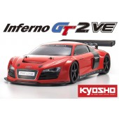 Kyosho Inferno GT2 VE Race Audi R8 LMS Red Brushless RTR 1:8