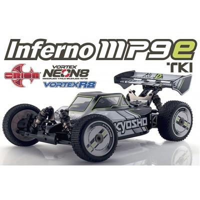 Kyosho INFERNO MP9e TKI T1 WHITE/BLAC Buggy Electric Readyset 1 /8