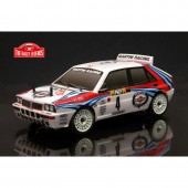 Lancia Delta EVO2 Rally RC Car 1 /10 ARTR Transparent Body with Decals EZRL0926
