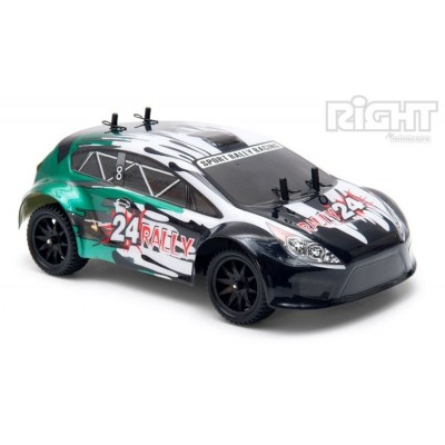 Right 1/ 24 RC Sport Rally Car 4WD EP 2. 4G RTR