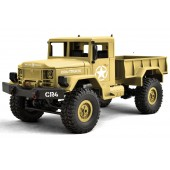 Funtek CR4 Military Truck 4x4 1/ 16 with Lights RTR Brown