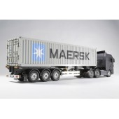 Tamiya RTR Camion Actros 6x4 BLU COMPLETO di Rimorchio Maersk